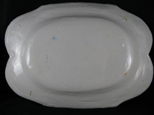 Antiquités - Large earthenware dish from Moustiers 18th century