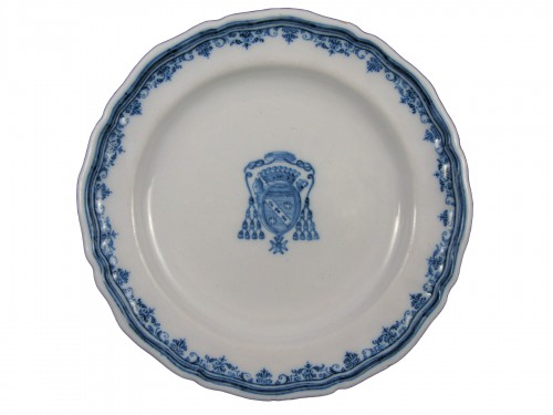 Earthenware plate of Moustiers- 18th century