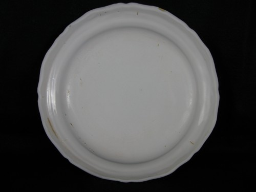 Earthenware plate of Moustiers- 18th century -