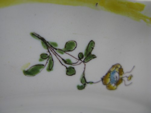 Moustiers earthenware plate - 18th century -