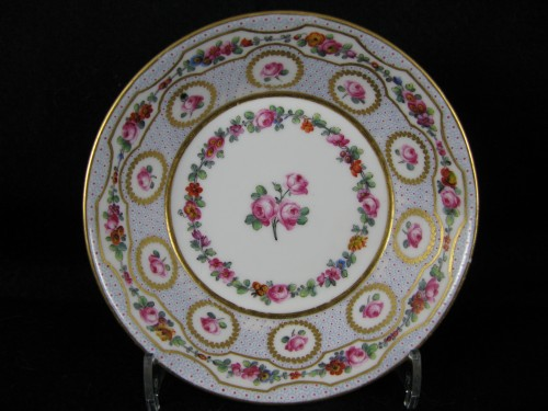 Porcelain & Faience  - Goblet and its saucer in Sèvres porcelain 18th century