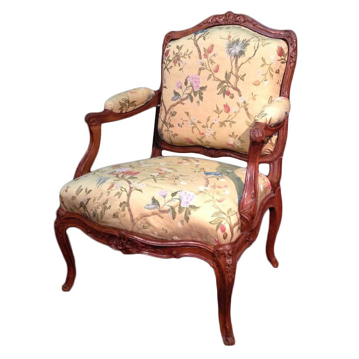 fauteuil chassis louis xv estampill m cresson xviiie si cle. Black Bedroom Furniture Sets. Home Design Ideas