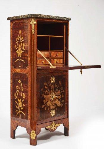 French  Louis XVI Secretaire de Dame stamped Jacques Bircklé - Furniture Style Louis XVI