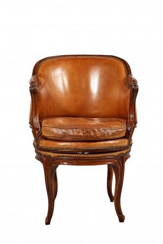A Louis XV rotating Fauteuil de bureau - Seating Style Louis XV