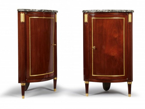Pair of Louis XVI corner cabinet