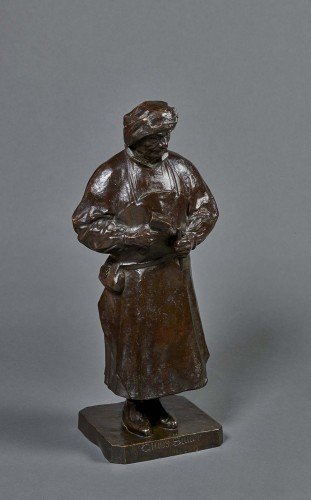 Bronze by Henri Bouchard representing Claus Sluter - Sculpture Style