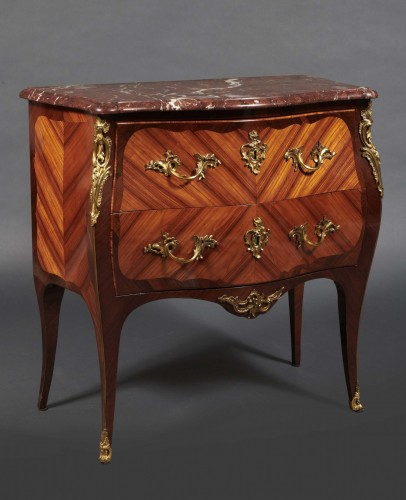 French Louis XV commode stamped Boudin - Furniture Style Louis XV