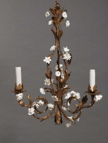 Pair of small chandeliers, late 19th century - Lighting Style Napoléon III