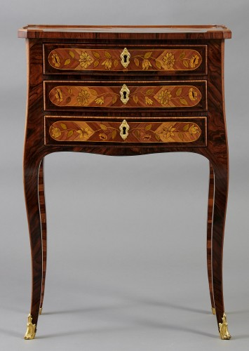 Small inlaid table stamped Rübestück - Furniture Style Louis XV