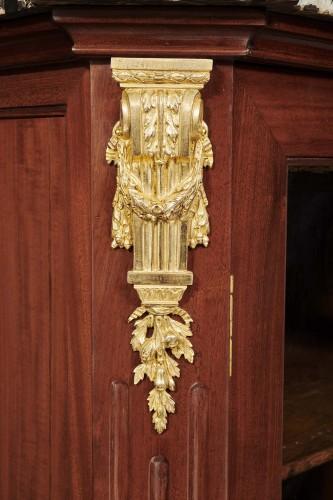 Furniture  - Small display cabinet of Louis XVI period stamped Nicolas Petit