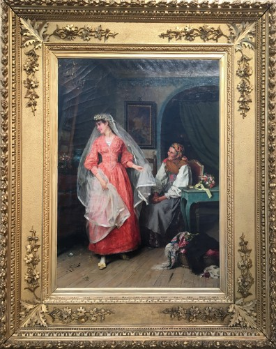 Wedding preparations -  Arturo Ricci (Florence 1854 - 1919)