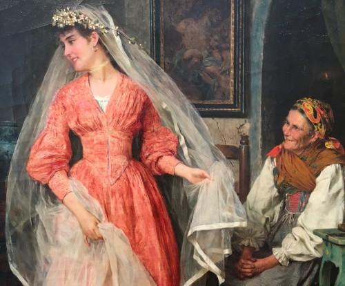 Paintings & Drawings  - Wedding preparations -  Arturo Ricci (Florence 1854 - 1919)