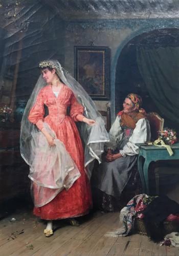 19th century - Wedding preparations -  Arturo Ricci (Florence 1854 - 1919)