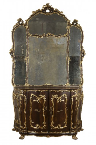 Important Sideboard With Venetian Mirror