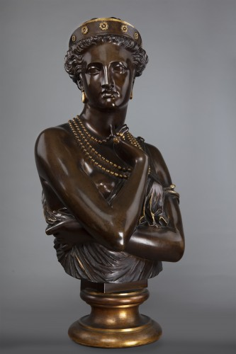 Young woman with necklaces after Jean Baptiste Clesinger - Sculpture Style Napoléon III