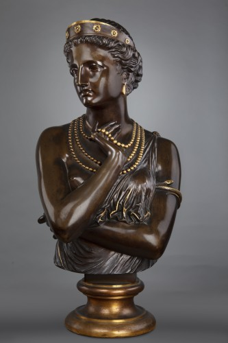 Sculpture  - Young woman with necklaces after Jean Baptiste Clesinger