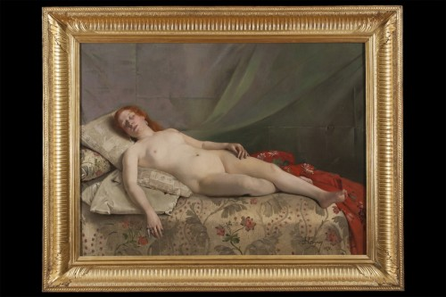 Nude young woman -  Jeanne Bordes-Guyon (?-1903)  - Paintings & Drawings Style Art nouveau