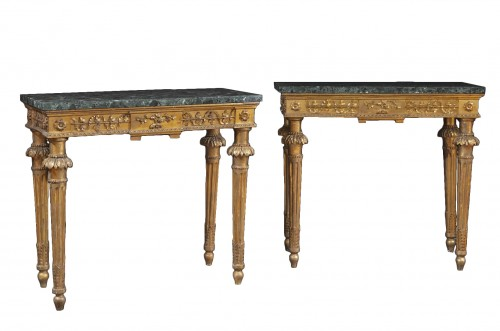 Pair of late 18th century  Genoese Consoles