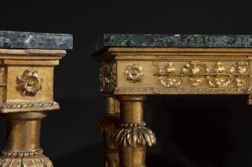 Pair of late 18th century  Genoese Consoles -