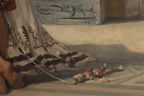 Hospitality in a villa in Pompeii - Cesare dell'Acqua (1821 - 1905) -
