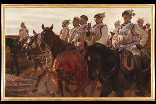 Christian Speyer (1855-1929) - Soldiers of the Habsburg Empire on horseback -