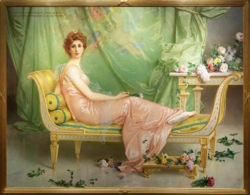 Vittorio Matteo Corcos (1859-1933)  Maria Luisa Isabella Spada