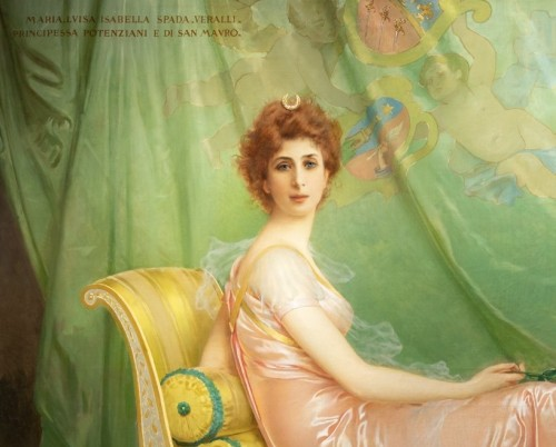 Vittorio Matteo Corcos (1859-1933)  Maria Luisa Isabella Spada - Paintings & Drawings Style Art nouveau