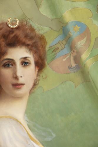 Art nouveau - Vittorio Matteo Corcos (1859-1933)  Maria Luisa Isabella Spada