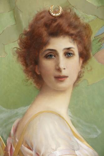 Antiquités - Vittorio Matteo Corcos (1859-1933)  Maria Luisa Isabella Spada