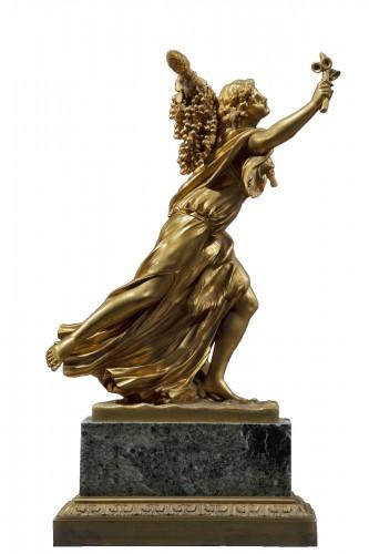 Gilt Bronze Sculpture Representing A Bacchant
