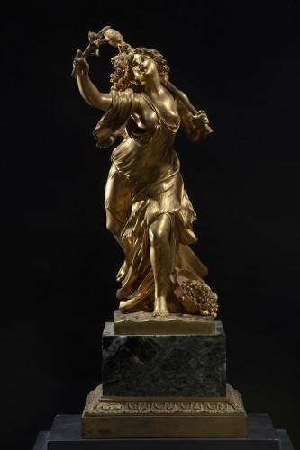 Gilt Bronze Sculpture Representing A Bacchant - Sculpture Style Restauration - Charles X