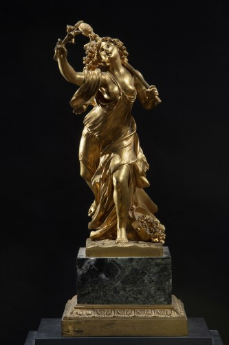 Sculpture  - Gilt Bronze Sculpture Representing A Bacchant