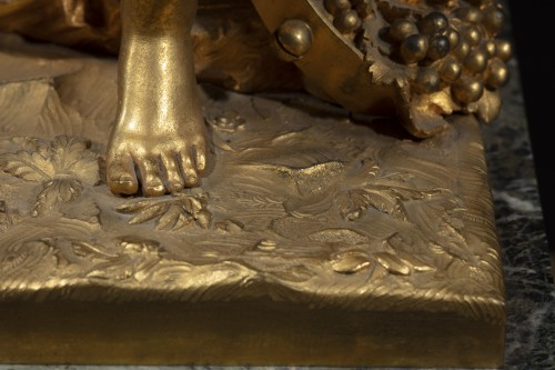 Gilt Bronze Sculpture Representing A Bacchant - Restauration - Charles X