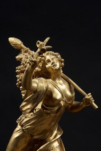 Restauration - Charles X - Gilt Bronze Sculpture Representing A Bacchant