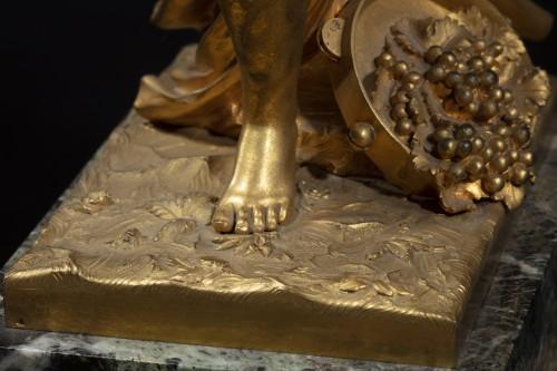 Antiquités - Gilt Bronze Sculpture Representing A Bacchant