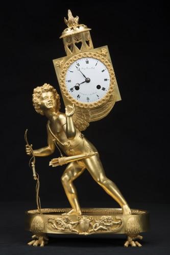 "Horology  -  Empire period pendulum ""Magic Lantern"""