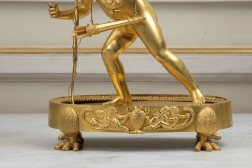 """19th century -  Empire period pendulum """"Magic Lantern"""""""