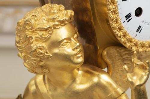 """Antiquités -  Empire period pendulum """"Magic Lantern"""""""