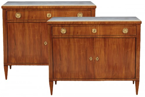 Pair of sideboards in cherry