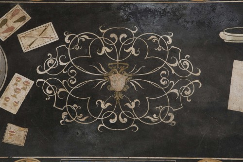 17th Century Scagliola Top - Decorative Objects Style Louis XIV