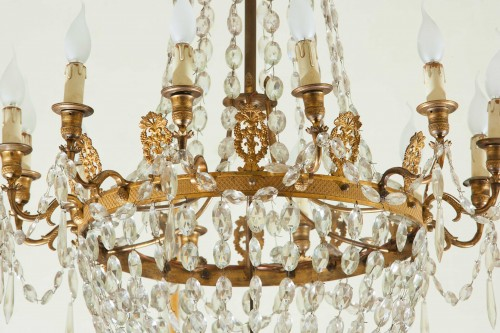 Lighting  - A Very Fine French Empire Chandelier