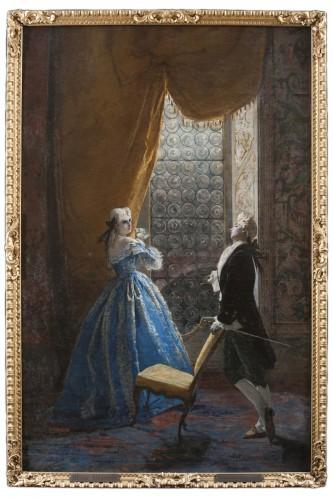 Gallant scene - Mosè Bianchi (Monza 1840-1904)