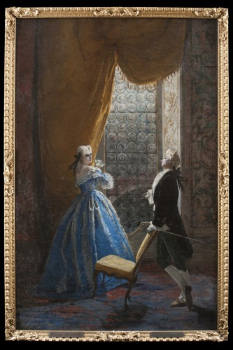 Gallant scene - Mosè Bianchi (Monza 1840-1904) -