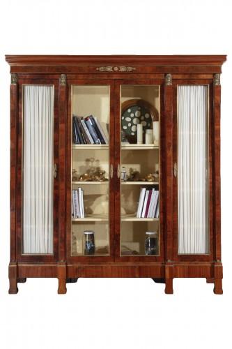 19th century French mahogany library
