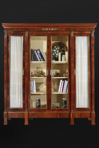 19th century French mahogany library - Furniture Style Napoléon III