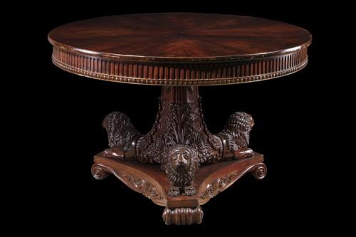 - An Antique Mahogany Center Table