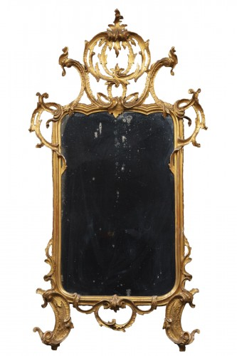 Lombard-venetian Mirror In Golden Wood