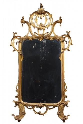 Lombard-venetian Mirror In Golden Wood
