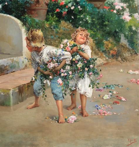 Paintings & Drawings  - Grandma's birthday - Vincenzo Irolli (Naples 1860 - 1949)