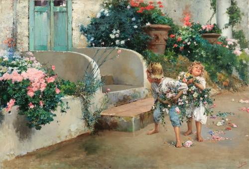 Grandma's birthday - Vincenzo Irolli (Naples 1860 - 1949) -